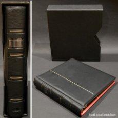 Material numismático: ALBUM PARA MONEDAS PARDO 4 ANILLAS 6 HOJAS Y SEPARADORES 21CMX24CMX5CM. Lote 252423395