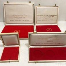 Material numismático: LOTE 4 CAJAS DE MONEDAS DE ORO ANTIGUAS. Lote 253194745