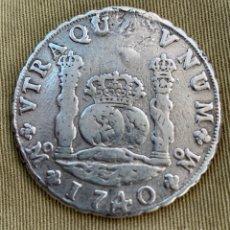 """Material numismático: MONEDA 8 REALES """"COLUMNARIO """" FELIPE V AÑO 1740. Lote 251328130"""