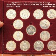 Material numismático: MONEDAS/MEDALLAS EN PLATA CONMEMORATIVAS AGRUPACIÓN COFRADÍAS MALAGA 1996. Lote 253643790