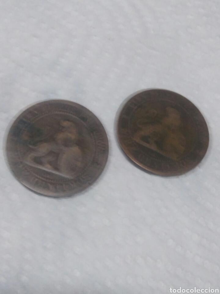 MONEDAS DE DIEZ CENTIMOS 1870 (Numismática - Material Numismático)