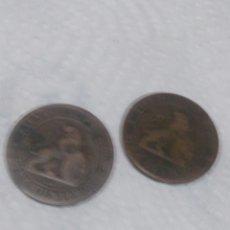 Material numismático: MONEDAS DE DIEZ CENTIMOS 1870. Lote 258811805