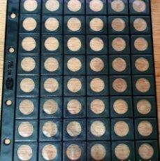 Material numismático: LOTE 10 HOJAS PARDO Nº 754. PARA 48 MONEDAS. DIAMETRO: 17 MM.. Lote 259945405