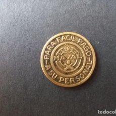 Material numismático: FICHA NAVAL 2 DISCOS /1 PESETA **PARA FÁCIL PAGO A SU PERSONAL**. DIÁMETRO: 2,5 CM. Lote 260633360