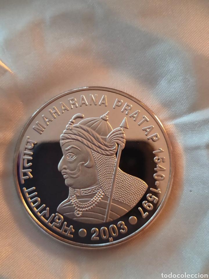 BONITA MONEDA PLATA 2003 INDIA RUPESS (Numismática - Material Numismático)
