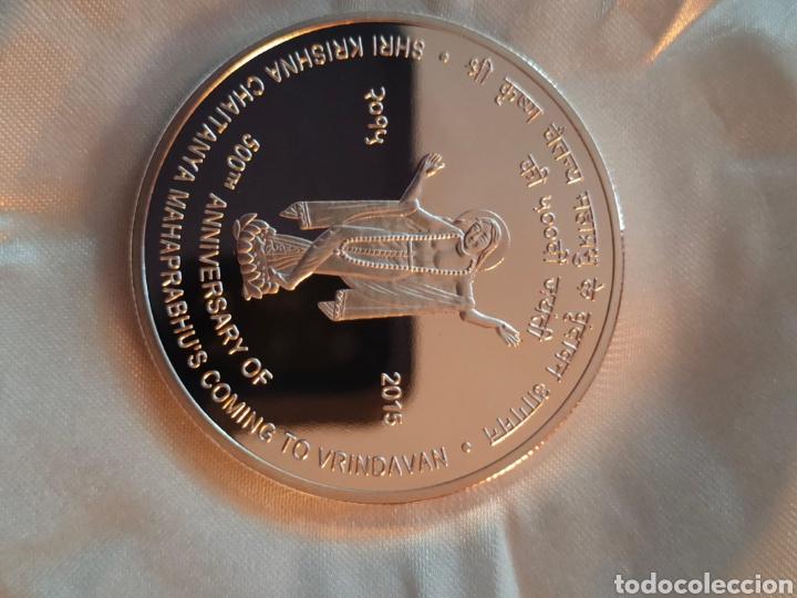 BONITA MONEDA PLATA INDIA 500 (Numismática - Material Numismático)
