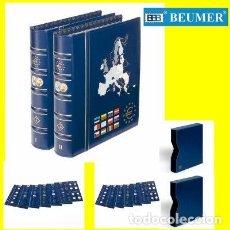 Material numismático: ALBUMES VISTA, TOMOS 1 Y 2. CON 12 HOJAS PARA 24 PAÍSES.INCLUYEN CAJETINES.. Lote 260709815