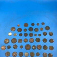 Material numismático: LOTE DE MONEDAS ANTIGUAS VARIAS ÉPOCAS Y PAÍSES. Lote 260828395