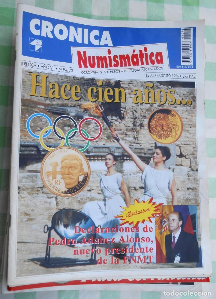 12 REVISTAS DE CRONICA NUMISMATICA DE COLECCIONISMO DE MONEDAS. PLATA BRONCE (Numismática - Material Numismático)