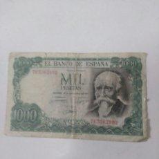Material numismático: BILLETE DE MIL PESTESAS 1971. Lote 261598485