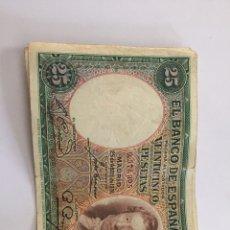Material numismático: BILLETE DE 25 PESETAS DE 1931 CIRCULADO. Lote 262501210
