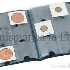 Material numismático: ÁLBUM PARDO BOLSILLO 10 FUNDAS 60 MONEDAS AZUL MOD. 73003. Lote 278189648