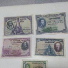 Material numismático: LOTE DE BILLETES ESPAÑOLES. Lote 262781965