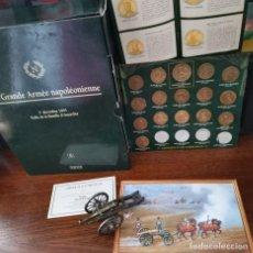 Material numismático: SUPER LOTE SET DE MONEDAS NAPOLEON Y FIGURAS DE ESTAÑO + CERTIFICADO (INCOMPLETO) VER IMAGENES. Lote 263664570