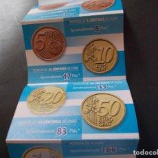 Material numismático: FOLLETO PUBLICITARIO PROMOCIONAL LA CHULETA DEL €URO ASEPEYO INICIOS DÉCADA 2000. Lote 263732275