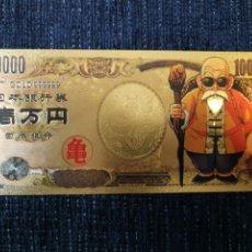 Material numismático: BILLETE DRAGON BALL CHAPADO ORO 24 KILATES. Lote 264318608