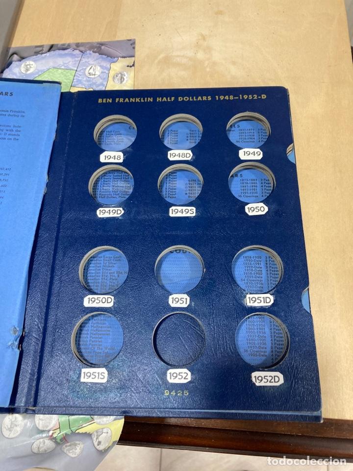 Material numismático: Lote de 2 álbumes para quartos de solar americanos - Foto 7 - 264531789