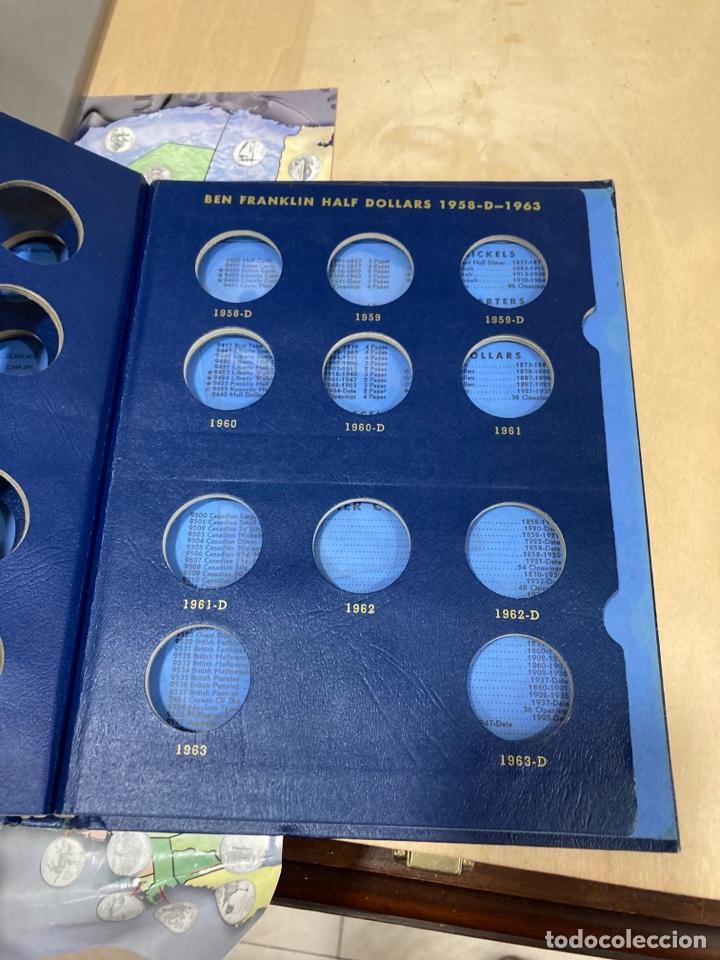 Material numismático: Lote de 2 álbumes para quartos de solar americanos - Foto 9 - 264531789