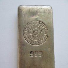 Material numismático: LINGOTE * 500 GRAMOS- 1/2 KILO SEMPSA * PLATA 999. Lote 267179989