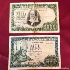 Material numismático: 2 BILLETES 1000 PESETAS DEL 51 Y 65. Lote 268950004