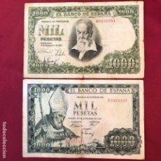 Material numismático: 2 BILLETES DEL 51 Y 65 DE 1000 PESETAS. Lote 268952094