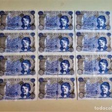 Material numismático: 12 BILLETES BERKELEYS BANK 1000000. Lote 268963954