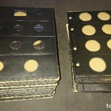 Material numismático: LOTE DE 47 HOJAS PARA MONEDAS PARDO VARIADAS PARA EUROS Y PESETAS 2.8 KILOS DE PE , LEER DESCRIPCION. Lote 269017104