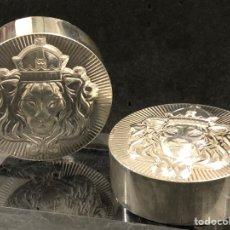 Material numismático: 2 LINGOTES - 10 ONZAS DE PLATA- APILABLES- SCOTTSDALE MIND. Lote 269162178