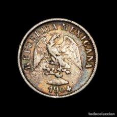 Material numismático: MEXICO 10 CENTAVOS 1904 ZSZ ZACATECAS PLATA - REPUBLICA MEXICANA. Lote 269378948