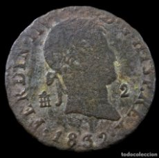 Material numismático: FERNANDO VII, 2 MARAVEDIS, SEGOVIA 1832 - 18 MM / 2.39 GR.. Lote 269479088