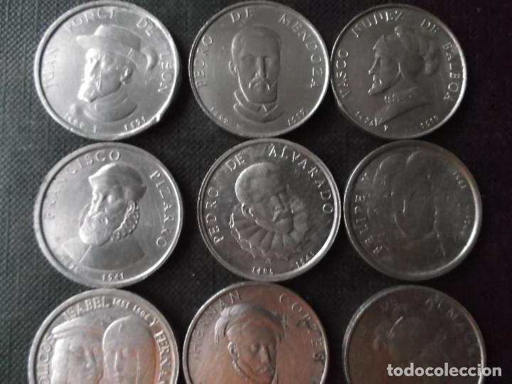 Material numismático: conjunto de 11 piezas conquistadores descubridores colonizadores de España años 60 ver fotos - Foto 3 - 232920205