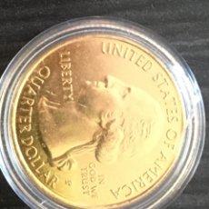 Material numismático: MONEDA DE ORO CUARTO DE DÓLAR DE AMÉRICA DE 6 GRAMOS MÁS O MENOS. Lote 274801528