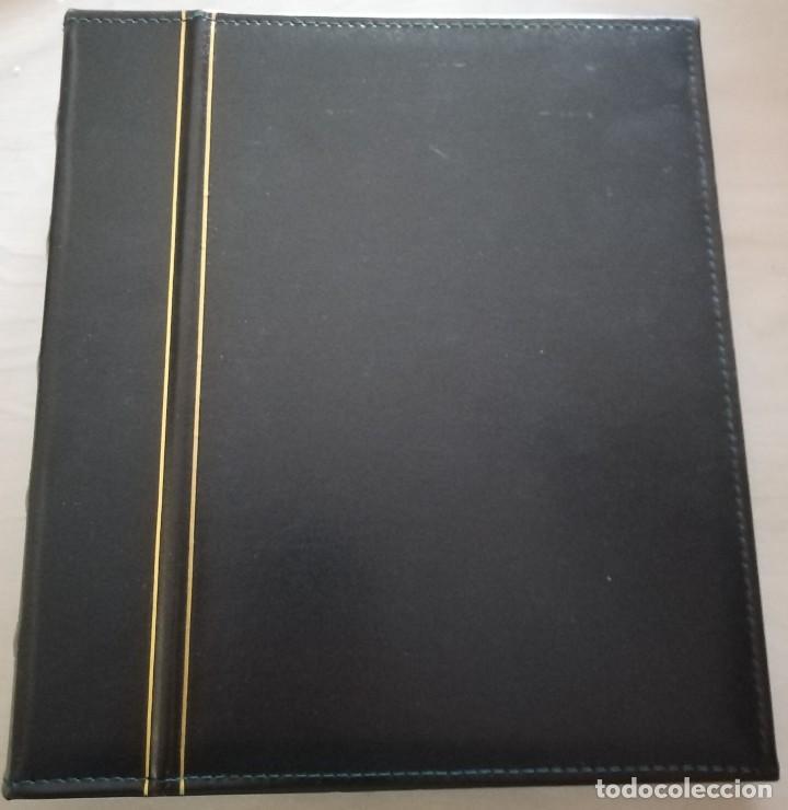 Material numismático: ALBUM PARA BILLETES 4 ANILLAS Y HOJAS - Foto 3 - 274818538