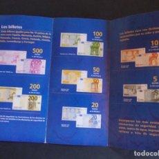 Material numismático: FOLLETO MONEDAS Y BILLETES EL EURO, NUESTRA MONEDA. BANCO DE ESPAÑA. Lote 275257708