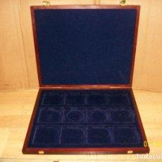 Materiale numismatico: ESTUCHE DE MADERA PARA MONEDAS O MEDALLAS. Lote 277035268
