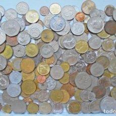 Material numismático: LOTE DE 250 MONEDAS EXTRANJERAS, TODAS DIFERENTES, NO HAY ESPAÑOLAS. Lote 277235758