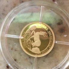 Material numismático: CONGO 50 FRANCS ORO PURO 585 PP/PROF 0'5 GRAMOS. Lote 277724183