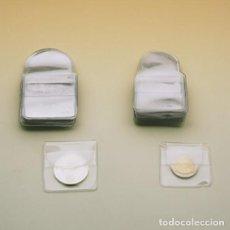Material numismático: FILOBER 100 BOLSAS PARA MONEDAS 50X50 MM. Lote 277739173