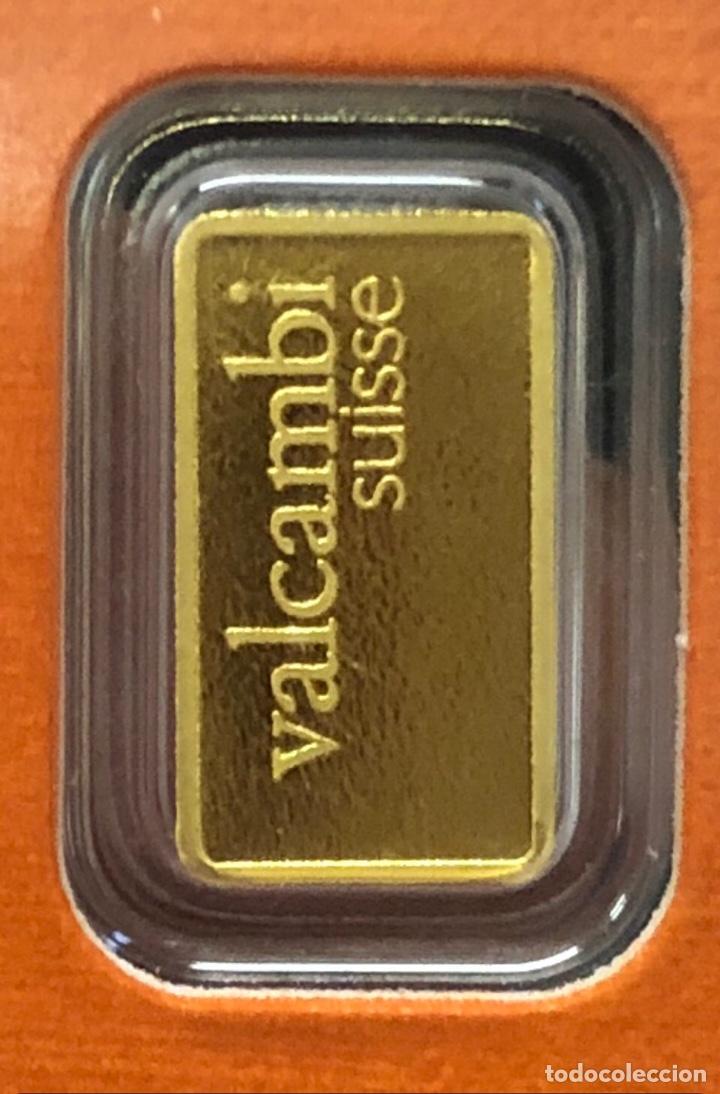 LINGOTE DE ORO PURO 1,00 GRAMOS VALCAMBI 24 KT (Numismática - Material Numismático)