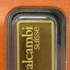 Material numismático: LINGOTE DE ORO PURO 1,00 GRAMOS VALCAMBI 24 KT. Lote 277829308