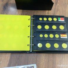 Material numismático: ÁLBUM DE ANILLAS EURO - 12 HOJAS PARA MONEDAS VENTANA BANDERAS CON SEPARADORES. Lote 278270838