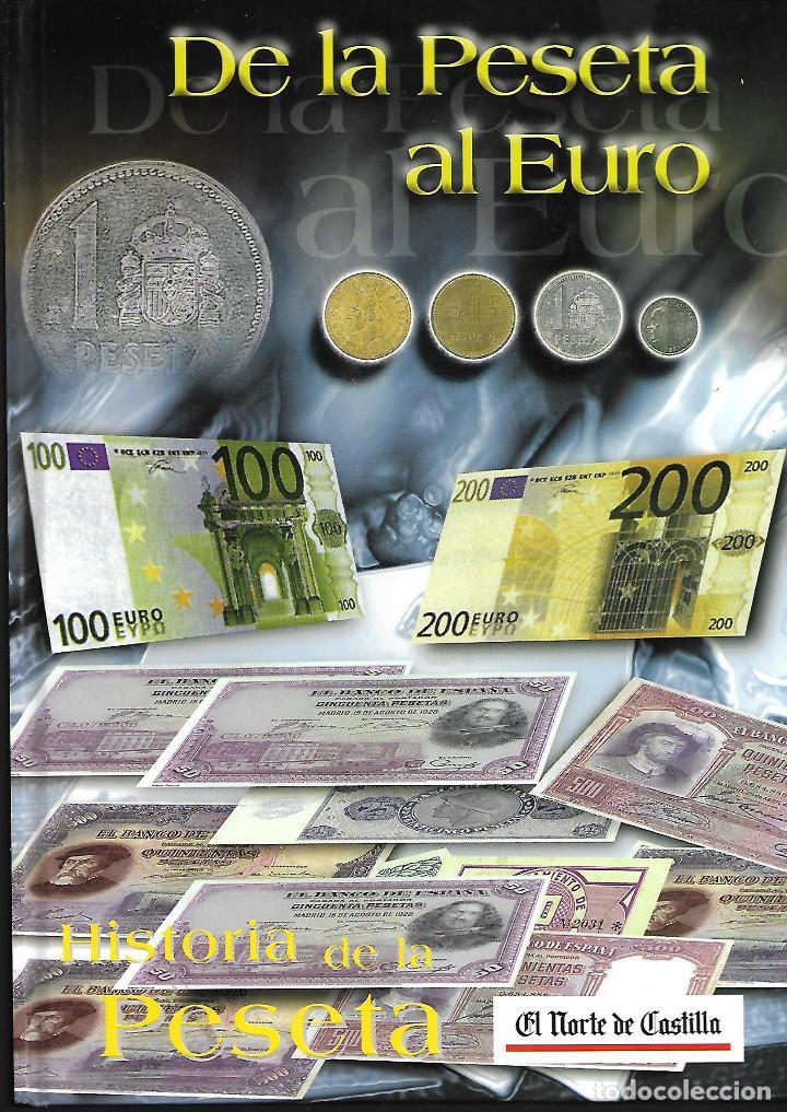 COLECCION DE LA PESETA AL €URO ALBUM CON 110 BILLETES (Numismática - Material Numismático)