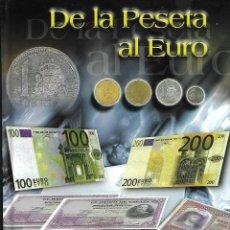 Material numismático: COLECCION DE LA PESETA AL €URO ALBUM CON 110 BILLETES. Lote 284308893
