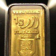 Material numismático: MONEDA LINGOTE DE ORO PURO - 1,00 GR SEMPSA - VERAVALOR - GIBRALTAR. Lote 287567713
