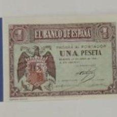 Material numismático: BILLETES DE 1 PTA. BANCO DE ESPAÑA FACSIMIL/COPIA - COLECCION EDICIONES GRUPOJOLY 2001. Lote 288135663