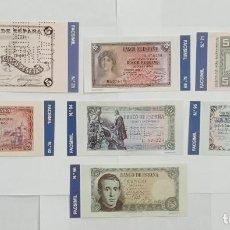 Material numismático: BILLETES DE 5 PTAS. BANCO DE ESPAÑA FACSIMIL/COPIA - COLECCION EDICIONES GRUPOJOLY 2001. Lote 288135753