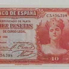 Material numismático: BILLETE DE 10 PTAS. BANCO DE ESPAÑA FACSIMIL/COPIA - COLECCION EDICIONES GRUPOJOLY 2001. Lote 288135833