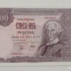Material numismático: BILLETE DE 5000 PTAS. BANCO DE ESPAÑA FACSIMIL/COPIA - COLECCION EDICIONES GRUPOJOLY 2001. Lote 288136508