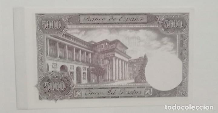 Material numismático: BILLETE DE 5000 PTAS. BANCO DE ESPAÑA FACSIMIL/COPIA - COLECCION EDICIONES GRUPOJOLY 2001 - Foto 2 - 288136508