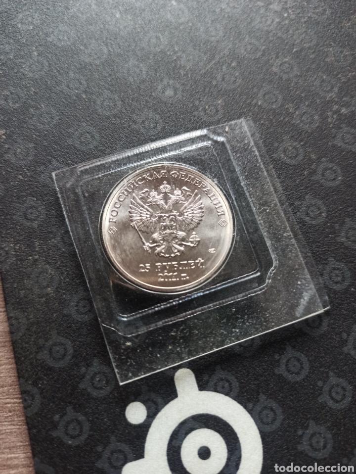 Material numismático: Moneda 25 rublos conmemorativa 2014 sin circular - Foto 2 - 288544263